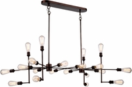 Urban Classic 1139D49CB Ophelia Modern Cocoa Brown Island Lighting