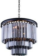 Urban Classic 1201D20MB-SS-RC Sydney Matte Black 20  Ceiling Pendant Light