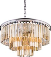 Urban Classic 1201D26PN-GT-RC Sydney Polished Nickel 26  Hanging Lamp