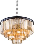 Urban Classic 1201D32MB-GT-RC Sydney Matte Black 32  Pendant Lighting Fixture
