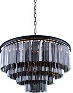 Urban Classic 1201D32MB-SS-RC Sydney Matte Black 32  Hanging Pendant Lighting