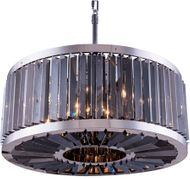 Urban Classic 1203D28PN-SS-RC Chelsea Polished Nickel 28  Drum Hanging Lamp