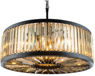 Urban Classic 1203D35MB-GT-RC Chelsea Matte Black 35.5  Drum Hanging Light