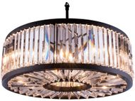Urban Classic 1203D35MB-RC Chelsea Matte Black 35.5  Drum Pendant Light Fixture