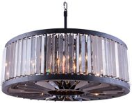 Urban Classic 1203D35MB-SS-RC Chelsea Matte Black 35.5  Drum Pendant Lighting Fixture