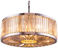 Urban Classic 1203D35PN-GT-RC Chelsea Polished Nickel 35.5  Drum Hanging Pendant Lighting