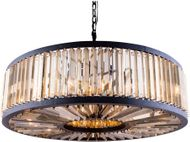 Urban Classic 1203G43MB-GT-RC Chelsea Matte Black Drum Hanging Light Fixture