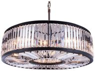 Urban Classic 1203G43MB-RC Chelsea Matte Black Drum Drop Lighting