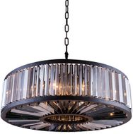 Urban Classic 1203G43MB-SS-RC Chelsea Matte Black Drum Drop Ceiling Lighting