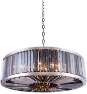 Urban Classic 1203G43PN-SS-RC Chelsea Polished Nickel Drum Drop Ceiling Light Fixture