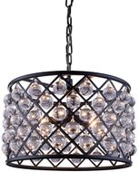 Urban Classic 1204D20MB-RC Madison Matte Black 20  Drum Pendant Light