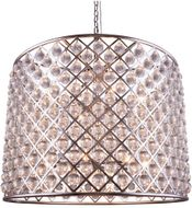 Urban Classic 1204D35PN-RC Madison Polished Nickel 35.5  Drum Pendant Light Fixture