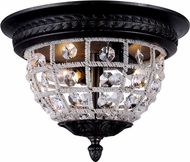 Urban Classic 1205F12DB-RC Olivia Dark Bronze Ceiling Light Fixture