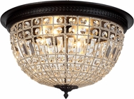 Urban Classic 1205F24DB-RC Olivia Dark Bronze Flush Mount Light Fixture