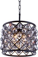 Urban Classic 1206D14MB-SS-RC Madison Matte Black 14  Drum Ceiling Pendant Light