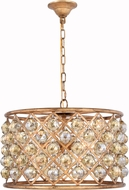 Urban Classic 1206D20GI-GT-RC Madison Golden Iron 20  Drum Pendant Lighting Fixture