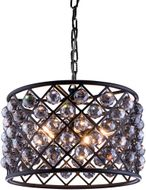 Urban Classic 1206D20MB-SS-RC Madison Matte Black 20  Drum Pendant Lamp