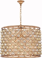 Urban Classic 1206D27GI-GT-RC Madison Golden Iron 27.5  Drum Pendant Hanging Light