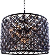 Urban Classic 1206D27MB-SS-RC Madison Matte Black 27.5  Drum Hanging Pendant Light