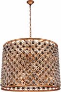 Urban Classic 1206D35GI-RC Madison Golden Iron 35.5  Drum Ceiling Light Pendant