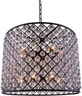 Urban Classic 1206D35MB-RC Madison Matte Black 35.5  Drum Ceiling Light Pendant