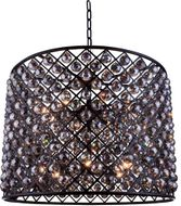 Urban Classic 1206D35MB-SS-RC Madison Matte Black 35.5  Drum Ceiling Pendant Light