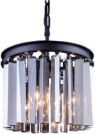 Urban Classic 1208D12MB-SS-RC Sydney Matte Black Mini Drum Pendant Lamp