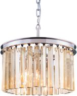 Urban Classic 1208D16PN-GT-RC Sydney Polished Nickel 16  Drum Pendant Hanging Light