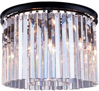 Urban Classic 1208F20MB-RC Sydney Matte Black 20  Flush Mount Lighting