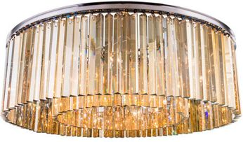 Urban Classic 1208F43PN-GT-RC Sydney Polished Nickel 43.5  Flush Mount Ceiling Light Fixture
