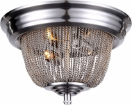 Urban Classic 1210F12PW Paloma Contemporary Pewter Flush Mount Ceiling Light Fixture