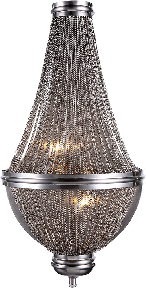 Urban Classic 1210w13pw Paloma Contemporary Pewter Wall Sconce Urb