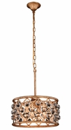 Urban Classic 1213D16GI-RC Madison Golden Iron 16  Drum Pendant Lamp