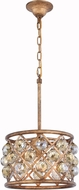 Urban Classic 1214D12GI-GT-RC Madison Golden Iron 12  Drum Pendant Lighting Fixture