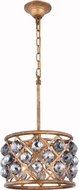 Urban Classic 1214D12GI-SS-RC Madison Golden Iron 12  Drum Hanging Pendant Light