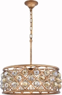 Urban Classic 1214D20GI-GT-RC Madison Golden Iron 20  Drum Drop Ceiling Lighting