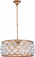 Urban Classic 1214D20GI-RC Madison Golden Iron 20  Drum Ceiling Light Pendant