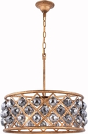 Urban Classic 1214D20GI-SS-RC Madison Golden Iron 20  Drum Ceiling Pendant Light