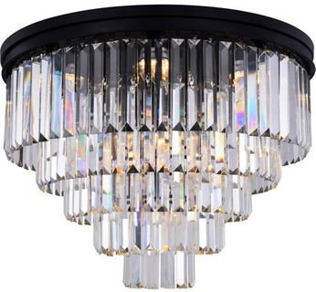 Urban Classic 1231F32MB-RC Sydney Matte Black 32  Flush Mount Lighting