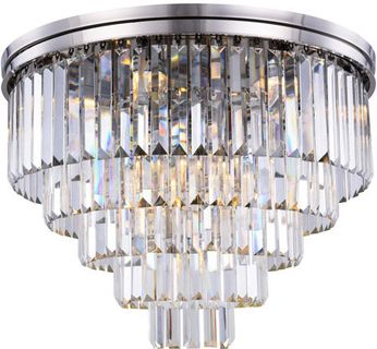 Urban Classic 1231F32PN-RC Sydney Polished Nickel 32  Flush Mount Lighting Fixture
