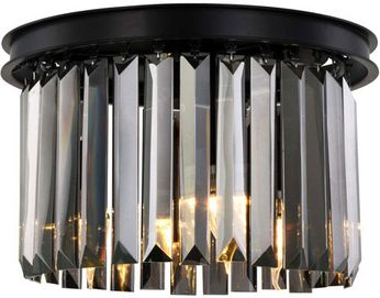 Urban Classic 1238F16MB-SS-RC Sydney Matte Black 16  Ceiling Light Fixture