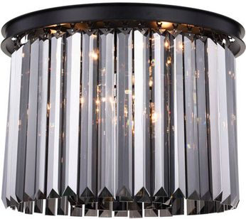 Urban Classic 1238F20MB-SS-RC Sydney Matte Black 20  Flush Ceiling Light Fixture