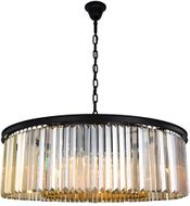 Urban Classic 1238G43MB-GT-RC Sydney Matte Black 43.5  Drum Lighting Pendant