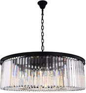 Urban Classic 1238G43MB-RC Sydney Matte Black 43.5  Drum Pendant Lamp