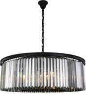 Urban Classic 1238G43MB-SS-RC Sydney Matte Black 43.5  Drum Hanging Lamp