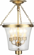 Urban Classic 1423F12BB Seneca Burnished Brass Ceiling Light