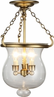 Urban Classic 1424F12BB Seneca Burnished Brass Ceiling Light Fixture