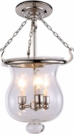Urban Classic 1424F12PN Seneca Polished Nickel Flush Mount Lighting