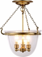 Urban Classic 1425F13BB Seneca Burnished Brass Flush Mount Light Fixture