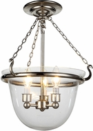 Urban Classic 1425F13PN Seneca Polished Nickel Flush Ceiling Light Fixture